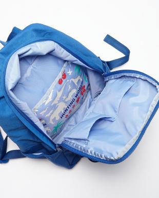 ライトブルー  BORNEO バックパック ロゴポケット|WOMEN見る