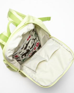 イエローグリーン  BORNEO バックパック ロゴポケット|WOMEN見る