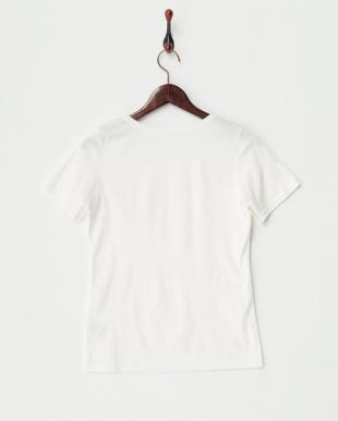 オフホワイト  スーピマコットンTシャツ見る