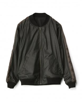 ブラック  リバーシブルMA-1ジャケット見る
