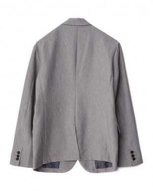 グレー  TRPu2重織りテーラードジャケット見る