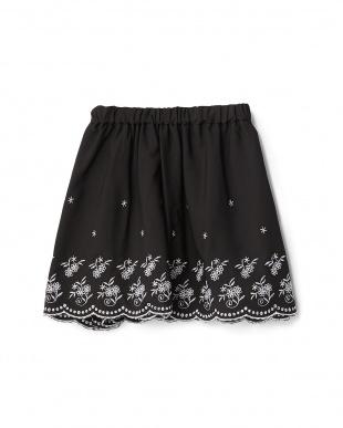 ブラック スカラップフラワースカート見る