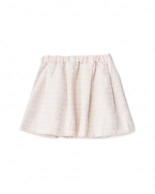 ライトピンク  ツイードスカート見る