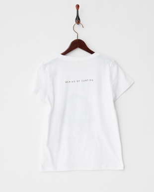 A-WHITE  FACEイラストTシャツ|WOMEN見る