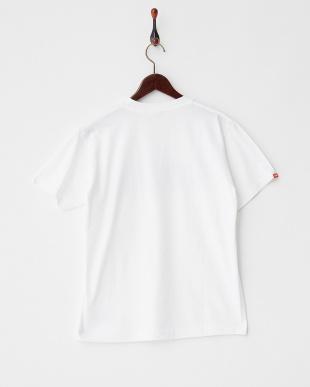 WHITE×NAVY  ジオメトリックロゴ Tシャツ|MEN見る