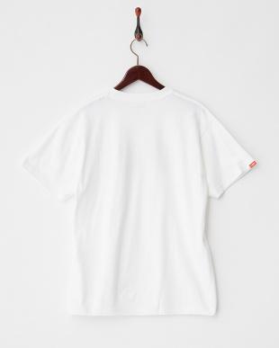 WHITE×RED  ジオメトリックロゴ Tシャツ|MEN見る