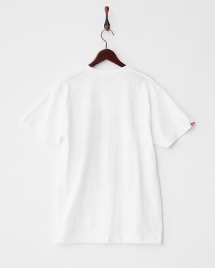 WHITE×YELLOW  ロゴイラスト Tシャツ|MEN見る