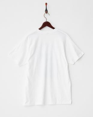 WHITE-C ボタニカルロゴ Tシャツ|MEN見る