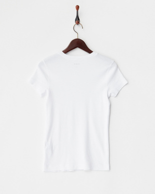 WHITE  Cotton Knits S/S V-Neck Tシャツ見る