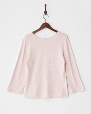 ピンク  くずまゆ8分袖Tシャツ見る