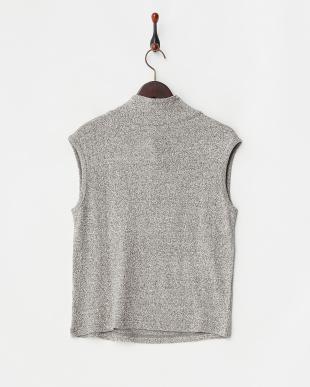 グレー  くずまゆ衿付きフレンチTシャツ見る