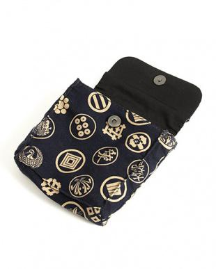 ブラック系 差し込み帯飾り付き 古典柄信玄袋|MEN見る