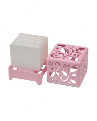 ピンク  自然気化式加湿器 うるおいキューブ | Seiei見る