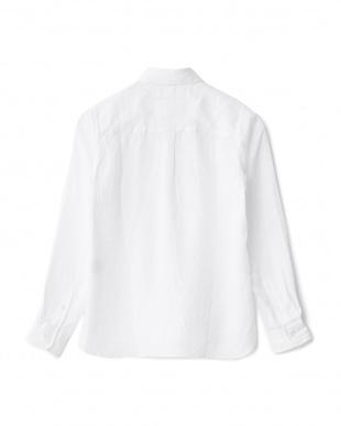 ホワイト  リネンシャツ見る