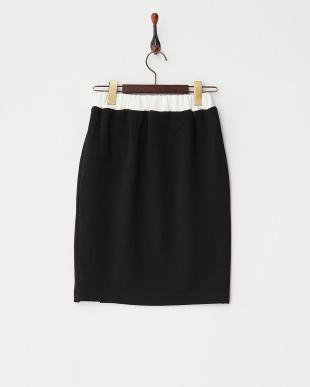 BLACK  配色スカート見る