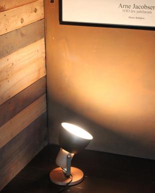 モスグリーン  アルミ&ウッド1灯テーブル&壁掛け兼用ランプ見る