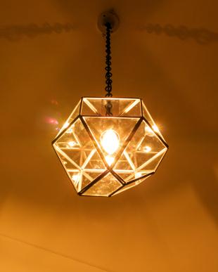 シルバーカラー LAMP by CRAFT TERRARIUM 1BULB PENDANT LIGHT TRIANGLE(電球な見る