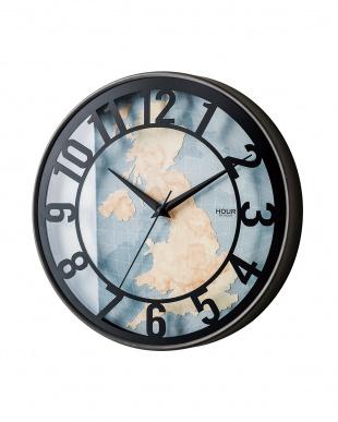 ブルー  Romanel 壁掛け時計見る