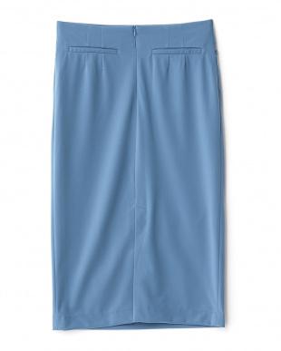 BLUE  後スリットタイトスカート見る