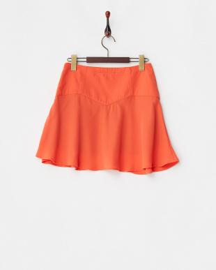 オレンジ サーキュラーミニスカート見る