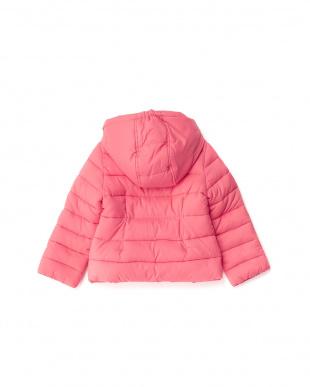 ピンク 中綿入りフーデッドジャケット(95~)見る