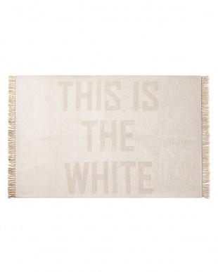 ホワイト THIS IS THE W/B FRINGE RUG 140×200見る