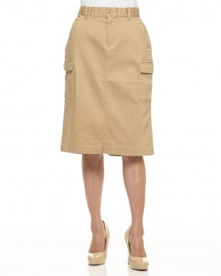 ベージュ  カーゴタイトスカート見る
