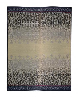 ブルー KOGIN い草ラグ 191×250cm見る