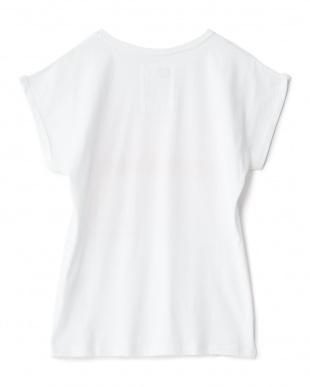ホワイト NOTHANKSプリントTシャツ見る