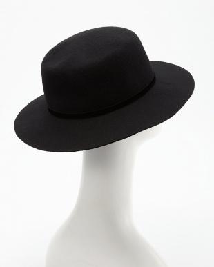 ブラック  フェルトカンカン帽見る