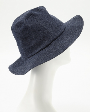 ネイビー  OC DENIM LIKE LONG BRIM HAT見る