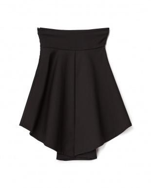 ブラック  ボタン付きフィッシュテールスカート見る
