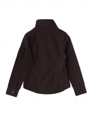 BLACK  スタンドカラーミリタリーシャツ見る