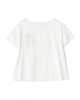 ホワイト アップリケTシャツ見る