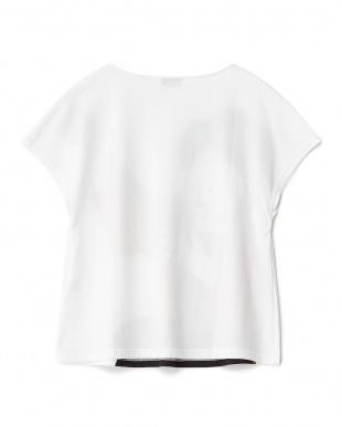 ホワイト ギターリスト プリントTシャツ見る