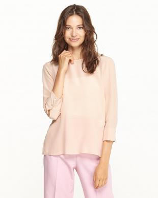 ピンク PANORAMA バックボタンシャツ見る