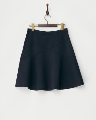 ネイビー  DOPPIARE ボンディングスカート見る