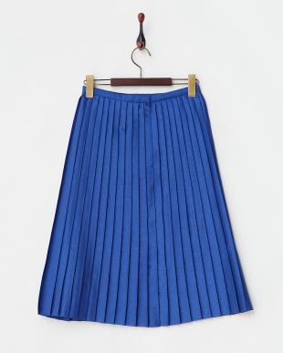 ブルー アコーディオンプリーツスカート見る
