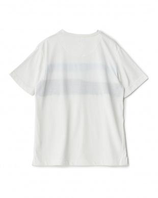 WHITE  ワッフル&天竺切替Tシャツ見る