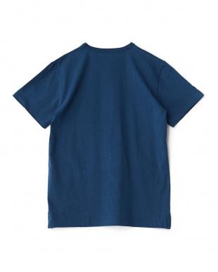 NAVY  ベア柄ファスナーポケット切替Tシャツ見る