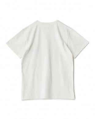 B/WHITE  ベア柄ファスナーポケット切替Tシャツ見る