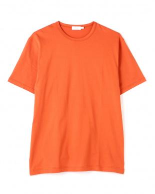オレンジ  Q82 PLAIN クルーネックTシャツ|MEN見る