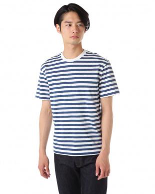 ブルー×ホワイト BOLD STRIPE JERSEY Tシャツ|MEN見る