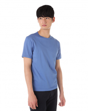ブルー Q82 PLAIN クルーネックTシャツ|MEN見る
