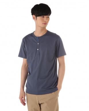 グレー  ヘンリーネックTシャツ|MEN見る