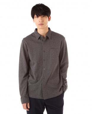 グレー  ワンポケットシャツ|MEN見る