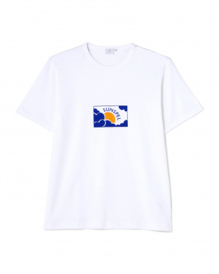ホワイト Long-Staple Cotton T-Shirt With Sun & Cloud Print MEN見る