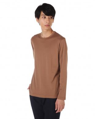 ブラウン Long-Staple Cotton Long Sleeve T-Shirt MEN見る
