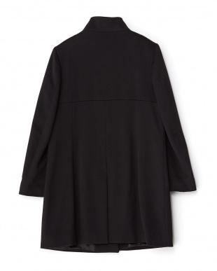 ブラック  Loro Piana ウールスタンドカラーコート見る