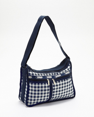 GINGHAM CLASSIC NAVY  Deluxe Everyday Bagショルダー見る